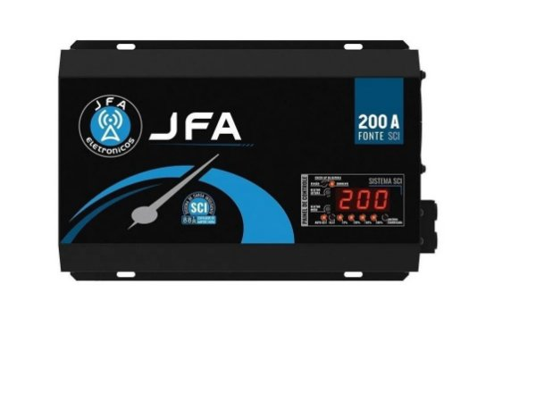 Fonte Carregador JFA 200A Bivolt SCI Até 10000W RMS