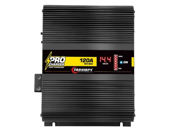 Fonte Taramps 120A Pro Charge Bi-Volt com Voltimetro