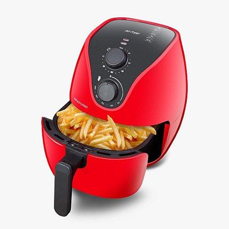 Fritadeira Air Fryer 4 Litros 1500w 110v Elétrica Vermelha
