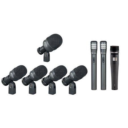 Kit Microfones Para Bateria K-8 Kadosh 8 Mic C/ Maleta