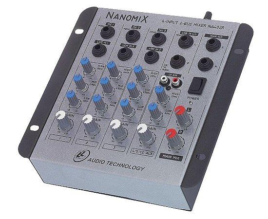 Mesa De Som Mixer LL Audio Nanomix NA402R 4 Canais Bivolt