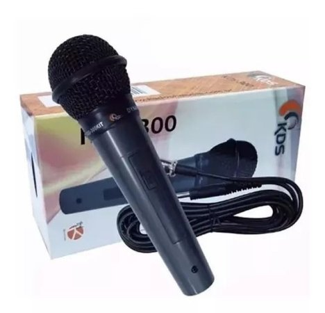 Microfone Kadosh KDS 300 Dinâmico Com Cabo