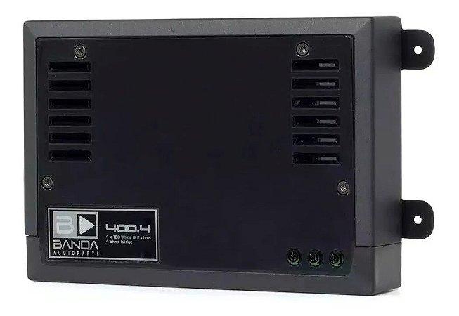 Modulo Amplificador Banda 400.4D PRETO 400W/Rms 4 canais