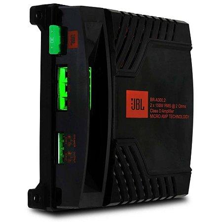 Módulo Amplificador Digital JBL Br-a 300.2 2 canais 300W Rms 2 Ohms