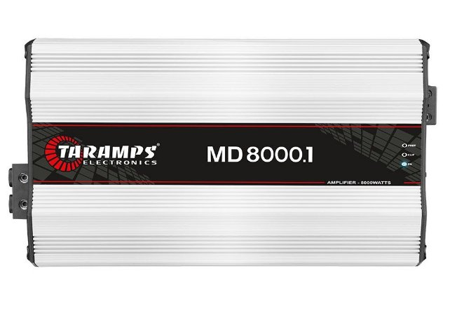 Módulo Amplificador Taramps MD 8000 1 Canal 8000W RMS 1 Ohm Digital