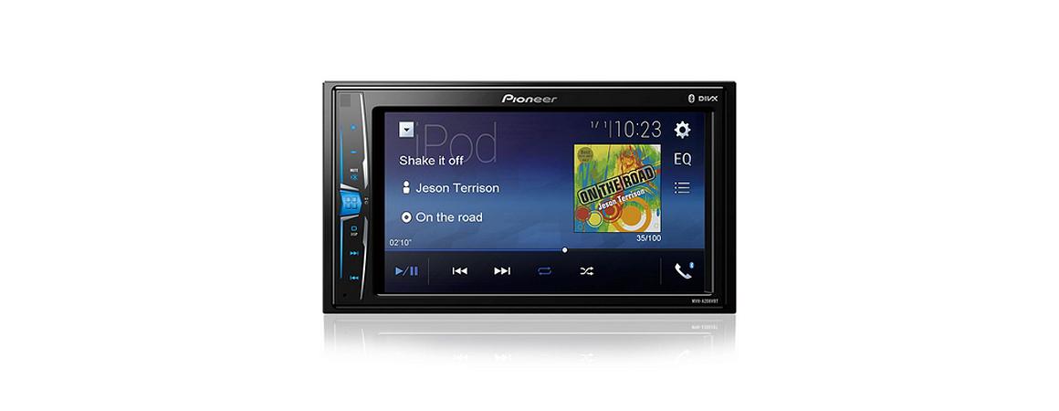 Multimídia Receiver Pioneer Mvh-a208vbt Bluetooth Usb 2 Din