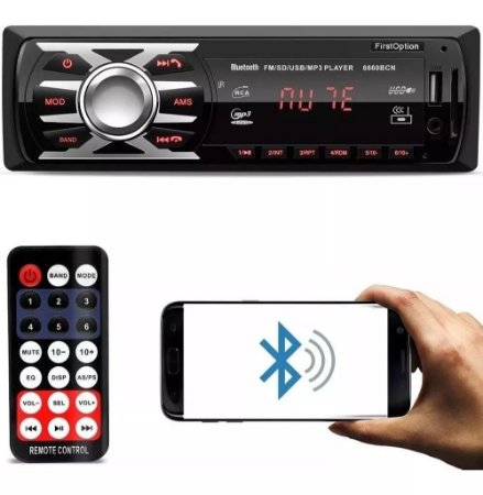 Som Automotivo Radio Mp3 Bluetooth Usb Sd First Option 6660BN