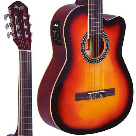 Violão Elétrico Nylon Ac-60 Sunburst Memphis Tagima