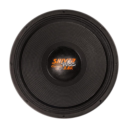 """Alto Falante Woofer Triton Shiver Bass 18"""" 3.6K 1800W RMS 4 ohms"""