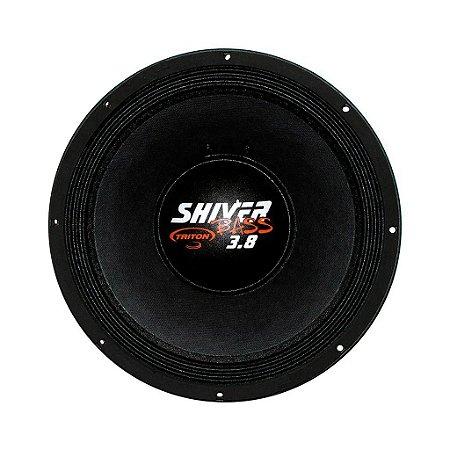"""Alto Falante Woofer Triton Shiver Bass 18"""" 3.8K 1900W RMS 4 ohms Branco"""