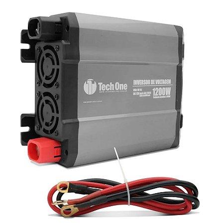 Inversor Conversor Techone 1200w 12v P/ 220v Entrada Usb Automotivo