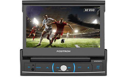 """Central Multimídia Positron SP6720 com Tela Retrátil Touch Screen de 7"""" com bluetooth"""