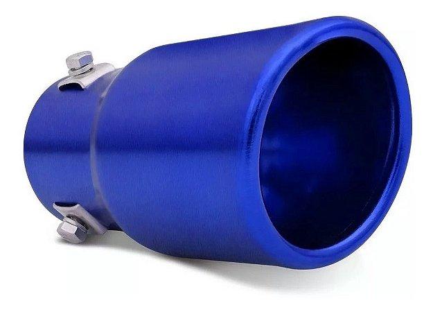 Ponteira de Escapamento Universal Cinoy Azul PO1A