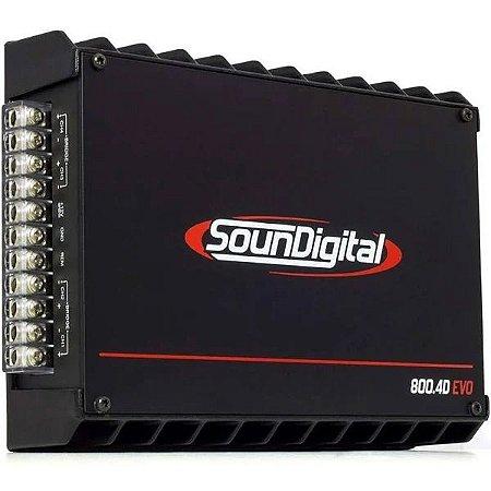 Módulo Amplificador Soundigital Sd800 4d 800W Rms 4 Ohms