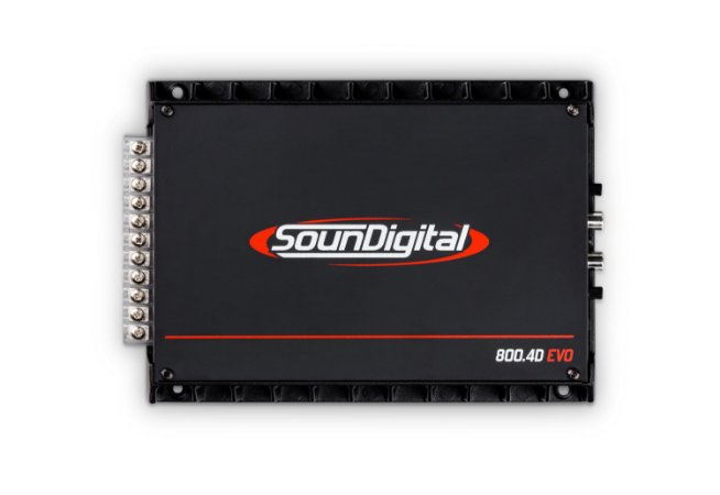 Módulo Amplificador Soundigital Sd800 4d 800W Rms 2 Ohms