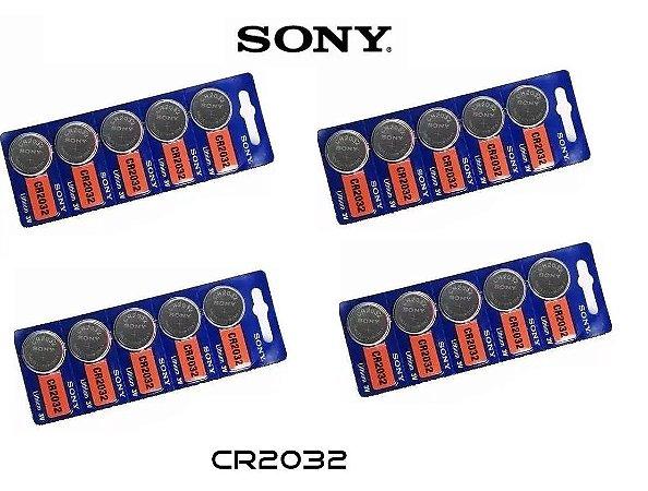 Kit Bateria Sony CR2032 com 20 Unidades