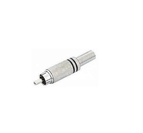 Kit Plug RCA 6mm Preto com 50 Peças