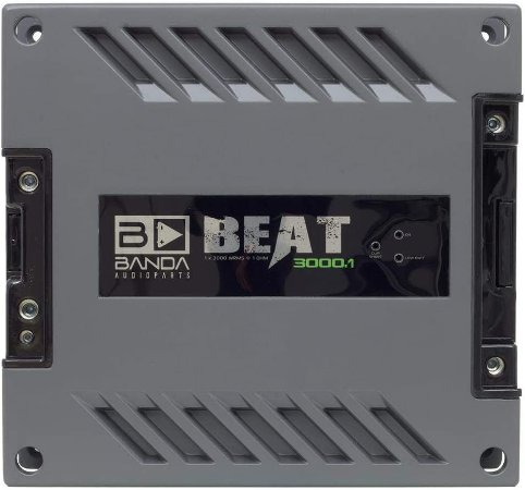 Módulo Amplificador Banda Beat 3000.1 3000W Rms 1 Canal