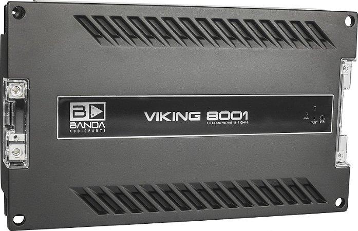Módulo Amplificador Banda Viking 8000 8000W Rms 1 Canal 1 Ohm