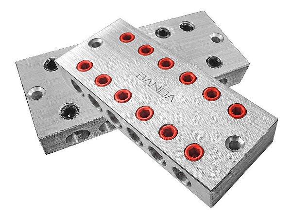Bloco Distribuidor Banda 6x6 Barramento Fixa Até 70mm Par