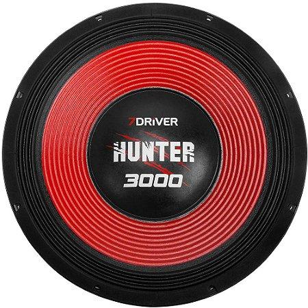 Alto Falante Woofer 7Driver Hunter 3000 1500 RMS 15 Polegadas