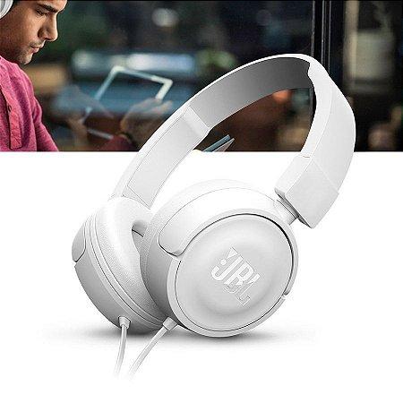 Fone de Ouvido JBL T450 Branco Original