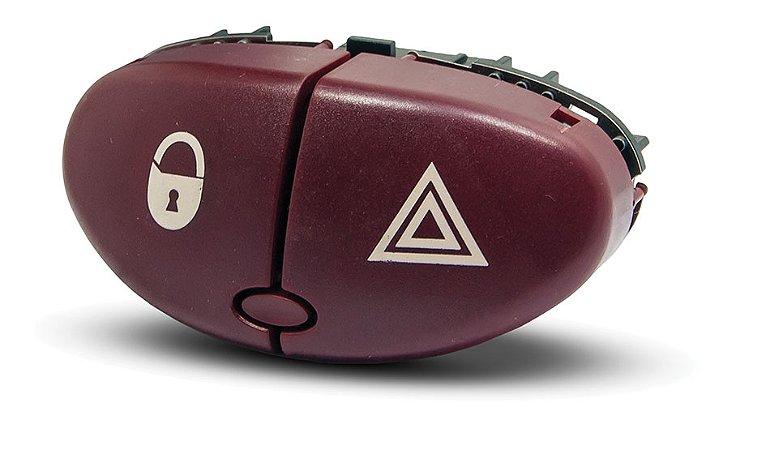 Botão Interruptor Para Trava Com Pisca Alerta Peugeot 206