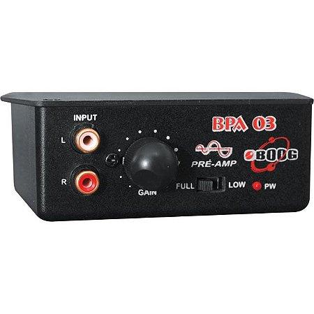 PRÉ AMPLIFICADOR CONVERSOR RCA BOOG BPA03
