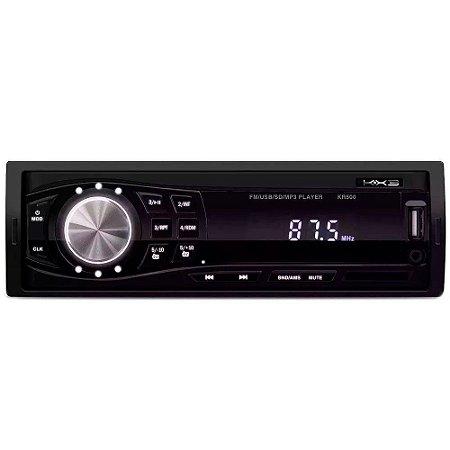 Som Autmotivo MP3 Player KX3 KR500 FM/USB/SD/AUX Rádio