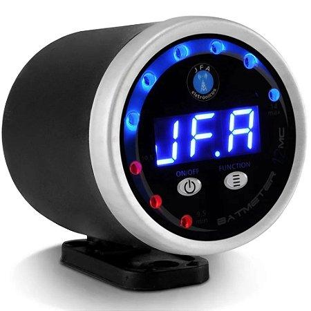 Voltímetro Jfa Bat Meter Microcontrolado Circular 12mc led azul