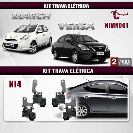 Kit Trava Elétrica Nissan March 4 Portas Tragial