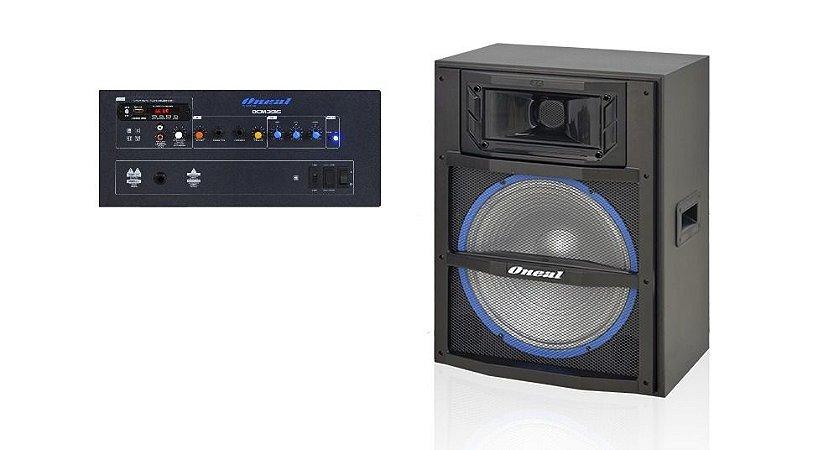 CAIXA AMPLIFICADA ATIVA ONEAL 15 OCM3915 150W / RMS USB/SD/FM -