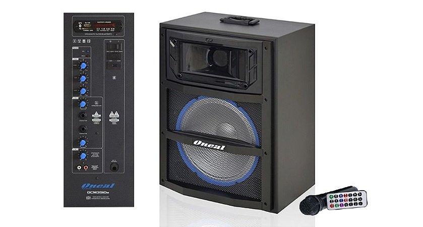 CAIXA DE SOM AMPLIFICADA ONEAL 10 OCM3910M 120W/RMS USB/SD/FM