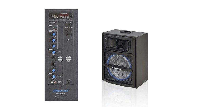 CAIXA DE SOM AMPLIFICADA ONEAL 10 POL OCM3910 120RMS USB/SD/FM