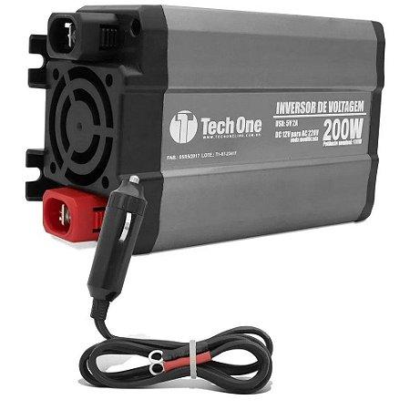 INVERSOR CONVERSOR TECHONE 200W 12v - 220v USB