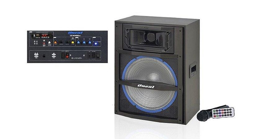 ONEAL CAIXA DE SOM BLUETOOTH OCM 3915MB 12V USB/SD/FM/MIC 150W