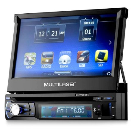 DVD Automotivo Retrátil Extreme 7 Pol. GPS/Bluetooth/TV Digital GP044