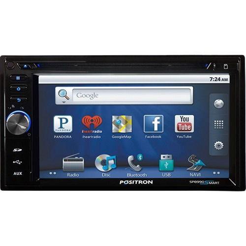 "Central DVD Automotivo Positron SP8990 Smart Tela 6,2"" Android 3G/GPS/BT/USB/SD/P2"