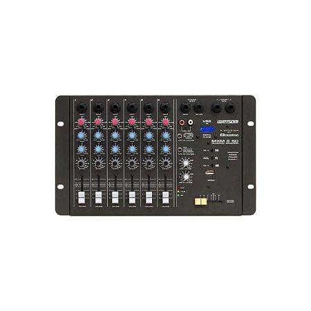 Mesa de som Analógica MXM 6 SD 6 canais Mono USB - Ciclotron