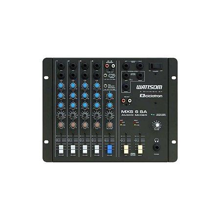 Misturador Mesa de som Analógica MXS 6 SA 6 Canais - Ciclotron