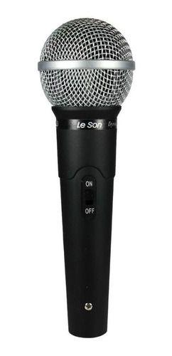 Microfone Com Fio Profissional Le Son Ls-58 Dinâmico Chumbo