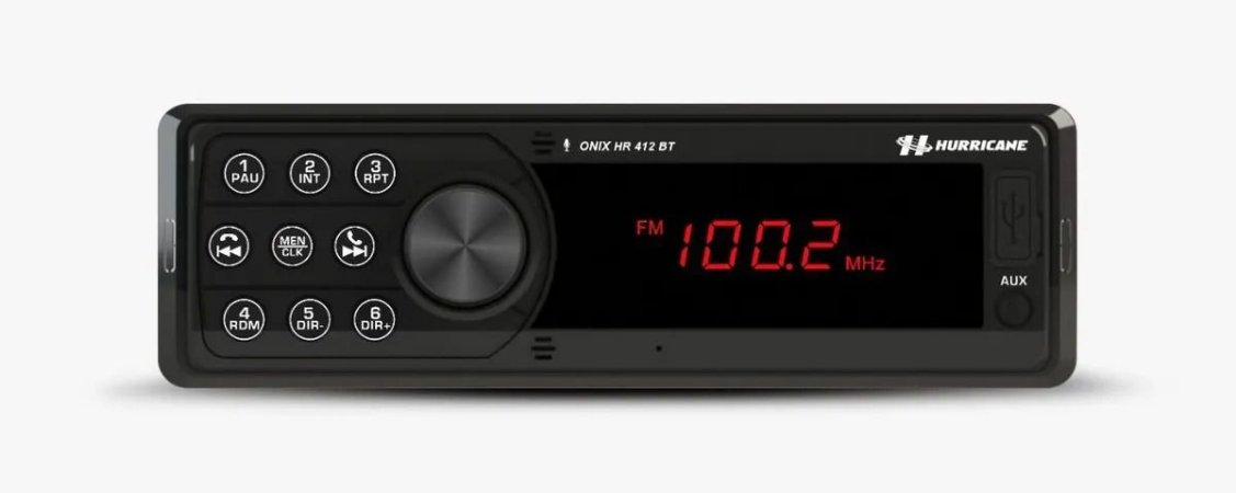Som Automotivo Rádio Bluetooth Mp3 Usb Hurricane Hr 412bt