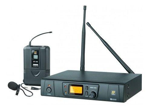 Microfone Sem Fio Lapela Staner Srw48s Preto