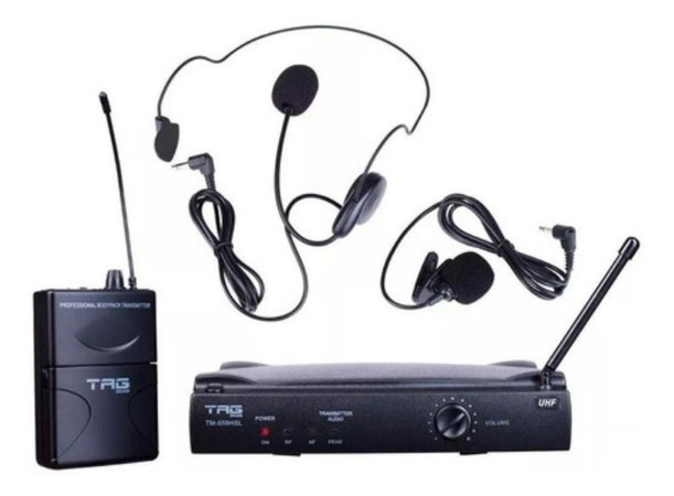 Microfone Sem Fio Lapela Tag Sound Tm559hsl Headset Wireless