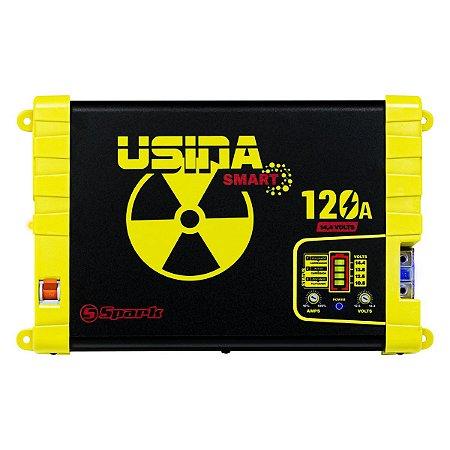 Fonte Automotiva Usina Smart 120a Bivolt Battery Metter