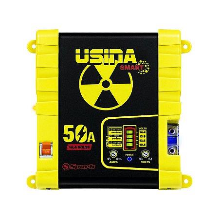 Fonte Carregador Usina 50a Smart 12v Battery Meter Bivolt