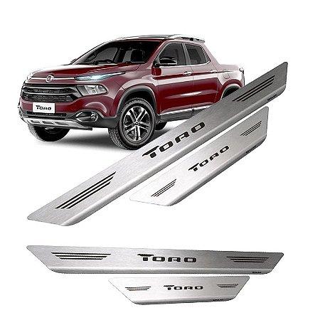 Soleira De Porta Em Aço Inox Escovado Fiat Toro - Mult