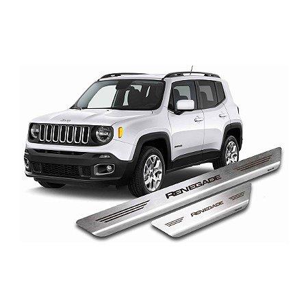 Soleira De Porta Em Aço Inox Escovado Jeep Renegade - Mult
