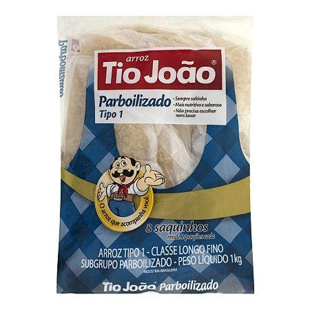 Arroz Parboilizado Tipo 1 TIO JOÃO Pacote 1kg com 8 Saquinhos