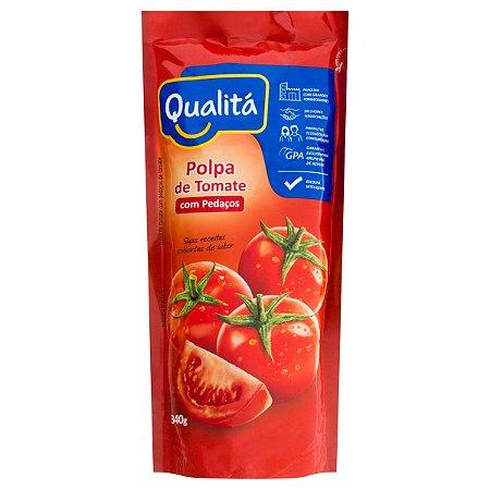 Polpa de Tomate Pedaços QUALITÁ Sachê 340g